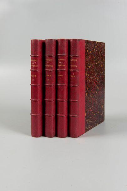 DUPONT. Chansons. Paris. 1851-1854. 4 volumes...