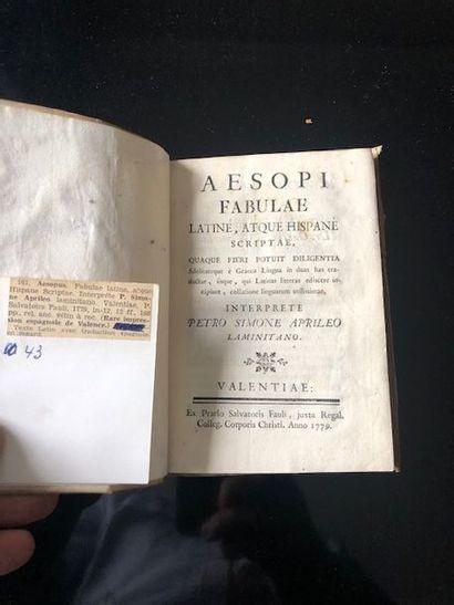 Aesopi, fabulae latine, atque Hispane Scriptae...