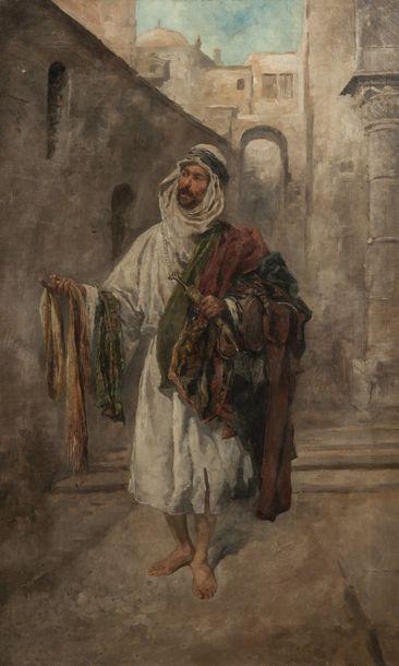 Ecole orientaliste du XIXème siècle  Le vendeur...