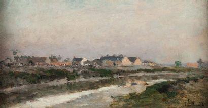 AlbertLEBOURG (1849-1928)  Estuaire de la...