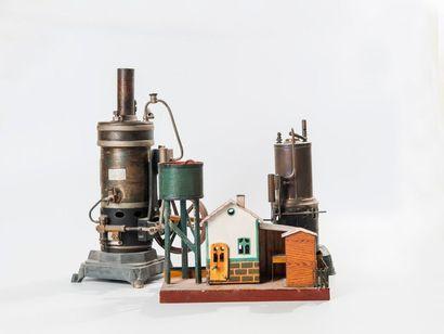 Deux machines à vapeur à foyer vertical,...