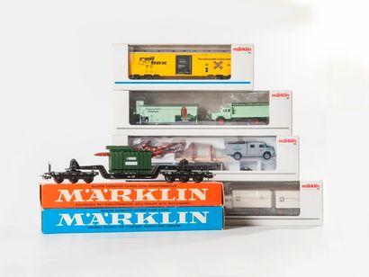 MARKLIN «HO»: 10 wagons marchandises dont...