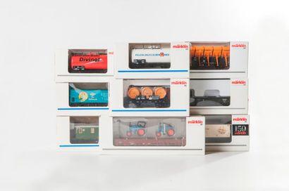 MARKLIN «HO»: 12 wagons marchandises dont...