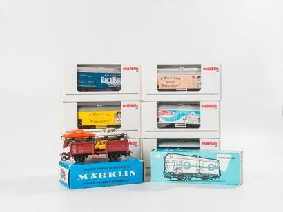 MARKLIN «HO»: Wagons marchandises dont,...