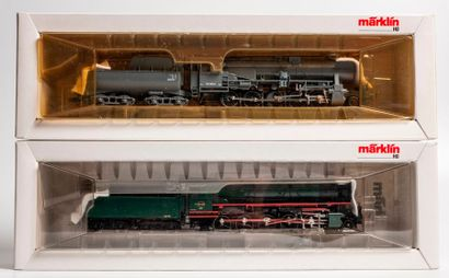 MARKLIN «HO»: Locomotive 150 avec tender...