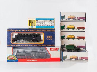 PIKO: Loco-tender 141 CSD, noire, réf. 190/27.  - Locomotive 040 PKP, réf. 95698....