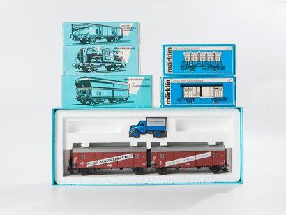 MARKLIN «HO»: wagons marchandises dont...