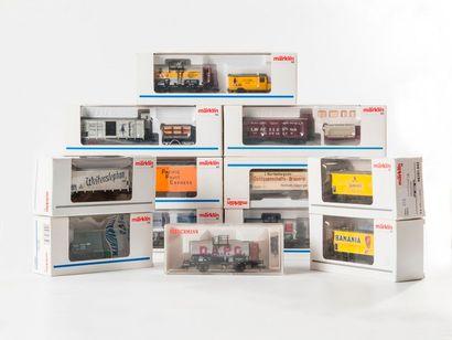 MARKLIN «HO»- FLEISCHMANN: Divers boites MUSEUM et transport de marchandises,...