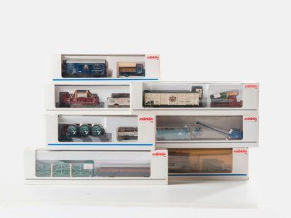 MARKLIN «HO»: 9 boites MUSEUM des années 1991 – 1998 – 1997 – 1999 – 2002 – ...