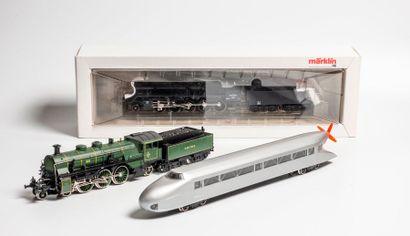 MARKLIN «HO»: Locomotive 150 Z SNCF, noire,...