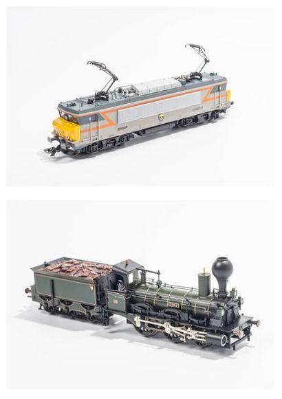 MARKLIN «HO» Système Delta: Motrice BB 22402 TU SNCF, bicolore gris et orange,...