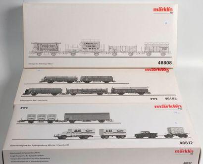 MARKLIN «HO»: Trois coffrets de wagons...