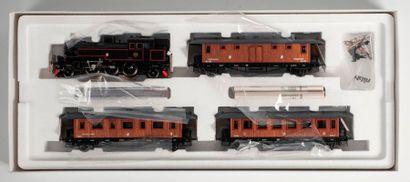 MARKLIN «HO»: Train historique des SJ, avec loco-tender série SA et 3 voitures,...