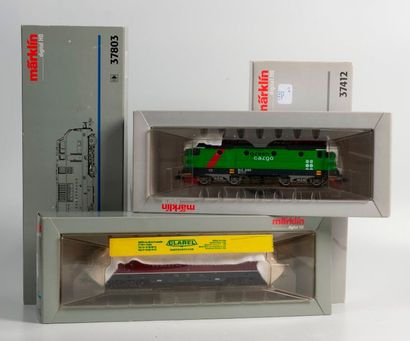 MARKLIN «HO»digital: Motrice électrique «GREEN CARGO» LITT Rc 2, réf. 37412...