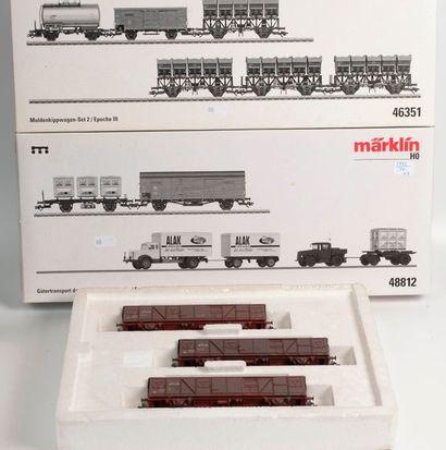 MARKLIN «HO»: Coffret transport de marchandises...