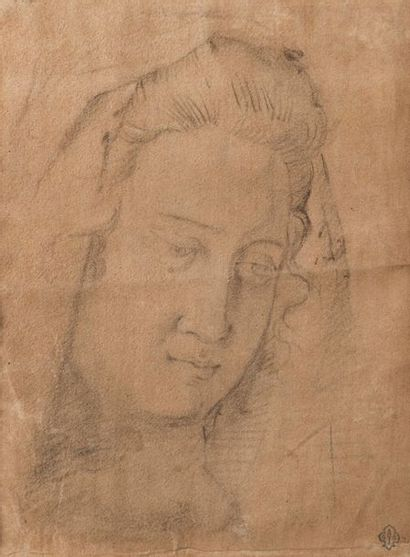 ECOLE ITALIENNE  DU XIXEME SIECLE  Portrait...