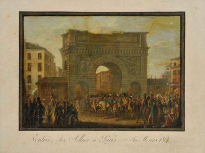 Entrée des alliés à Paris  le 18 mars 1814...