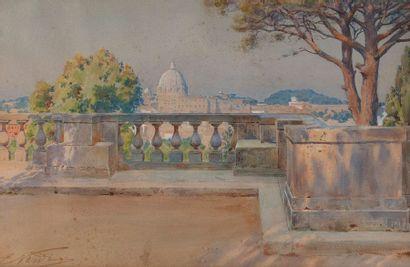 ENRICO NARDI (1864-1947)  Vue sur le dôme...