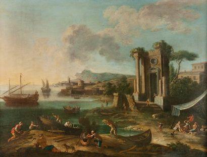 Nicola VISO  (Actif à Naples 1724-1742)  Ruine...