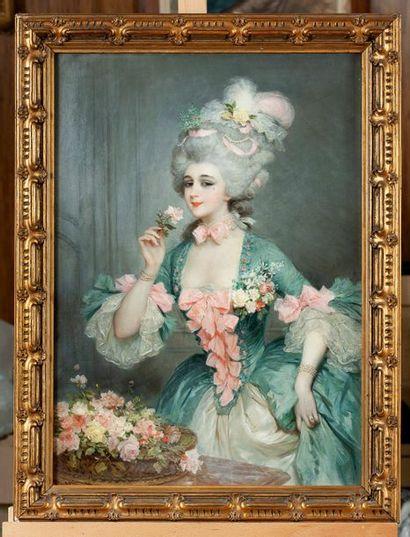 Lucius ROSSI (1846-1913)  Portrait de femme...