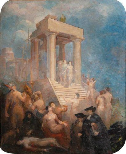 Madeleine VAURY (XIXe siècle)  Scènes sacrificielles...