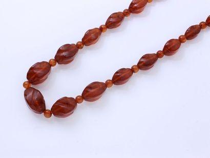 Collier composé d'une chute de perles en...