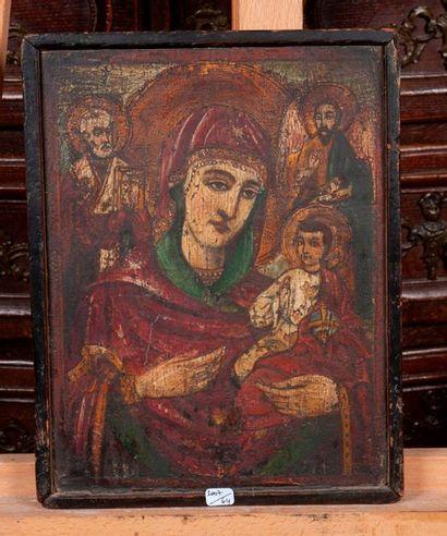 Icone Sainte vierge a l'enfant 29x22