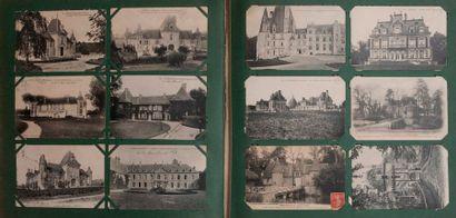 Album de cartes postales (chateaux, curistes)...