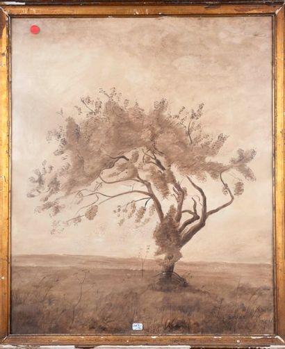 Paul Bablet   arbre  Dessin encre 59x48