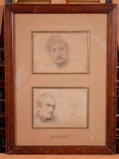 Dans le gout d'Horace Vernet   portraits...