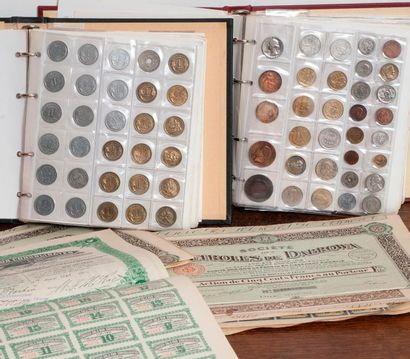Collection de pieces, medailles et actio...