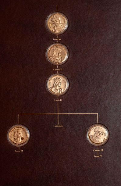 Collection de pièces de monnaie en vermeil...