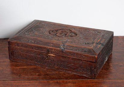 Boîte à bijoux en bois.  Chine
