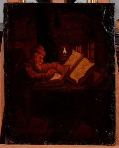 Dans le gout du XVIIIe  ecrivain a la bougie...