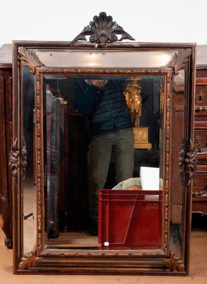 Grand miroir à parclose style Napoléon I...