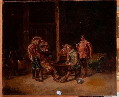 Dans le gout du XVIIe  La parti de cartes...