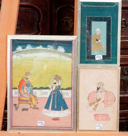 Lot de 3 miniatures orientales 22x15.5/
