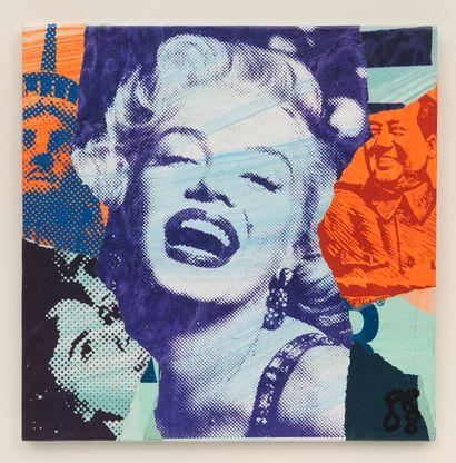 Paul RAYNAL  Marylin  Collage.