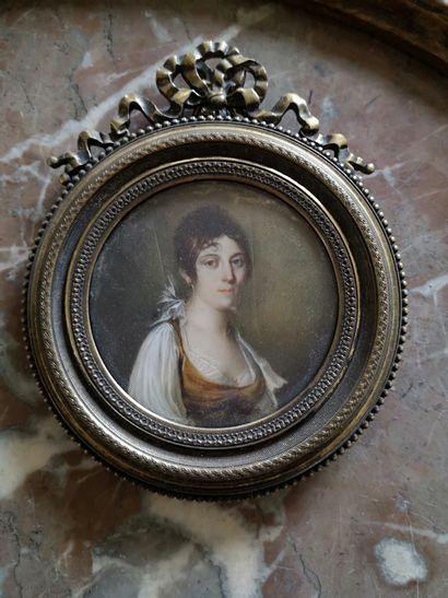 Ecole FRANCAISE vers 1810  Portrait de femme...