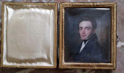 Ecole FRANCAISE vers 1830, BECKER  Portrait...