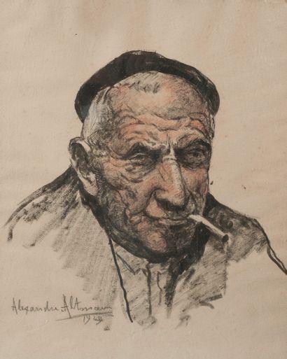 Alexandre ALTMANN (1885-1950)  Homme au beret...