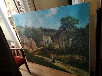 D'après Camille PISSARRO  L'Ermitage à Pontoise,...