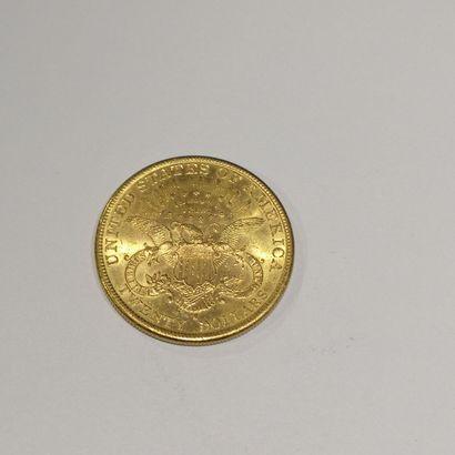 1 pièce 20 dollars or, Liberty 899