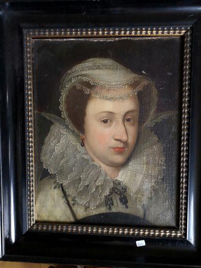 Ecole FRANCAISE du XVIIe siècle.  Portrait...