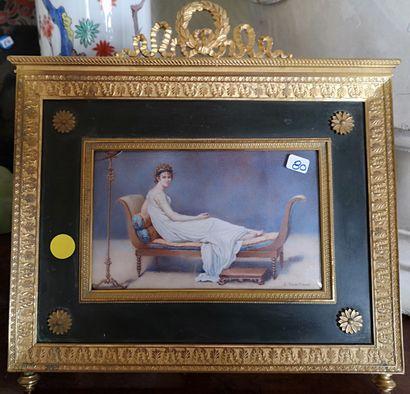 D'après J.L DAVID  Portrait de Madame Récamier...