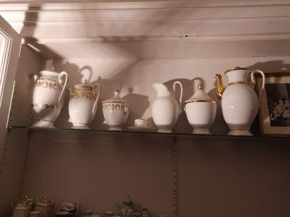 Lot de porcelaines, XIXe siècle.