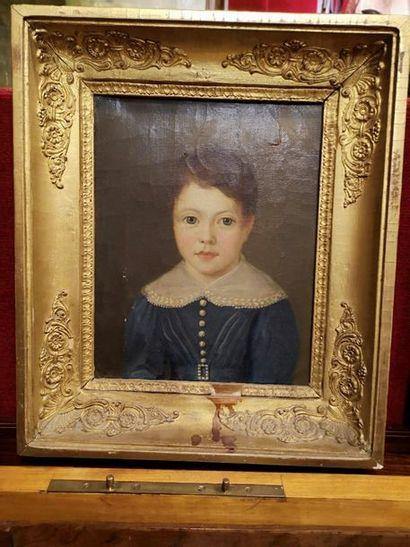 Deux huiles sur toile, datée au dos 1826...