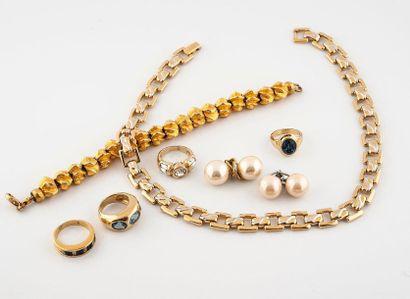Ensemble de bijoux comprenant:  -en argent...