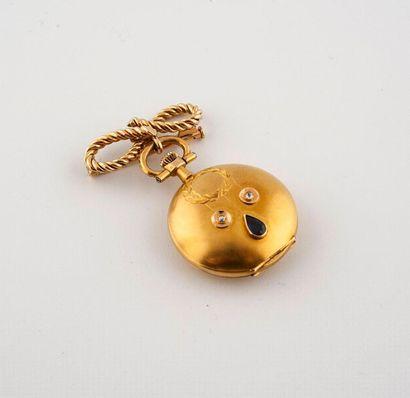 (étiqu 93) Ensemble en or jaune 585°/00 comprenant:...