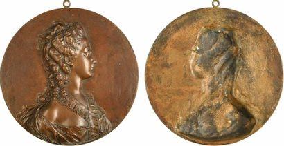 Louis XV, Suzanne-Elizabeth-Françoise Jarente de La Reynière, par Nini, s.d. (1769)...